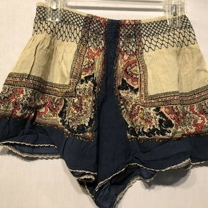 Free People Shorts Sz S Embroidred